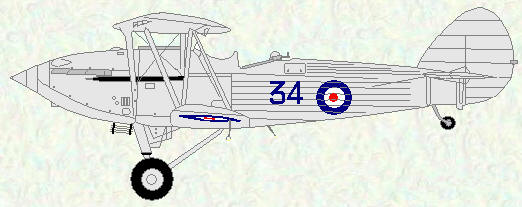 Hawker Hind of No 34 Squadron