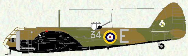 Bristol Blenheim I of No 34 Squadron (pre war markings)