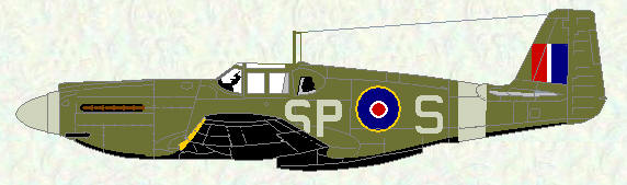 Mustang I of No 400 Squadron (Night Ranger scheme)