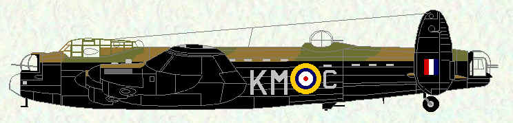 Lancaster I of No 44 Squadron (fitted with early ventral turret)