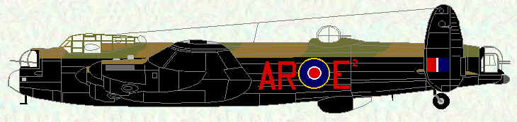 "Lancaster III of No 460 Squadron (fitted with AGLT - ""Village Inn"")"