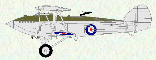 Hawker Hart of No 501 Squadron