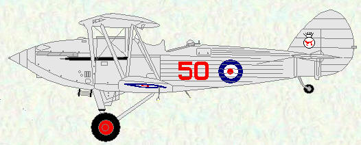 Hawker Hind of No 50 Squadron