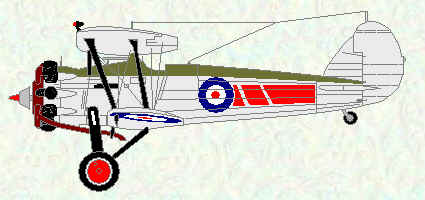 Bulldog IIA of No 54 Squadron (Red markings)