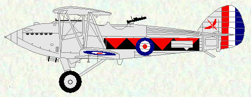 Hawker Hart of No 601 Squadron
