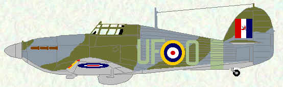 Hurricane IIb of No 601 Squadron (1941)