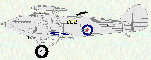 Hawker Hart of No 602 Squadron