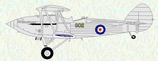 Hawker Hind of No 602 Squadron