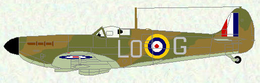 Spitfire I of No 602 Squadron (sky undersurfaces)