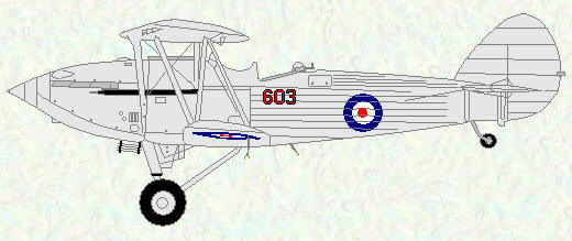 Hawker Hind of No 603 Squadron