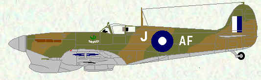 Spitfire VC of No 607 Squadron (early SEAC markings)