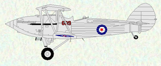 Hawker Hind of No 609 Squadron