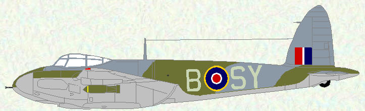 Mosquito VI of No 613 Squadron (Day fighter scheme)