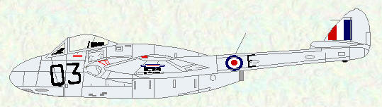 Vampire FB Mk 5 of No 613 Squadron (fighter command codes)