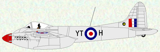 Hornet F Mk 3 of No 65 Squadron (coded YT)