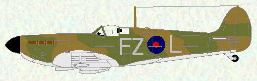 Spitfire I of No 65 Squadron (coded FZ)
