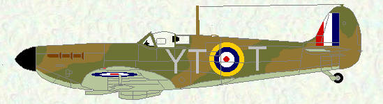Spitfire I of No 65 Squadron (coded YT)