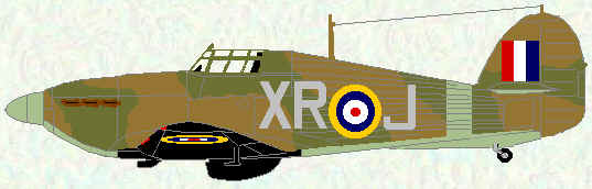 Hurricane I of No 71 Squadron ( early 1941)