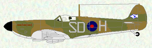 Spifire I of No 72 Squadron (coded SD)