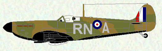 Spifire I of No 72 Squadron (coded RN)
