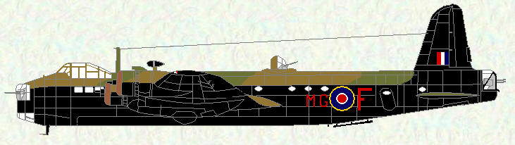 Stirling I of No 7 Squadron (red codes)