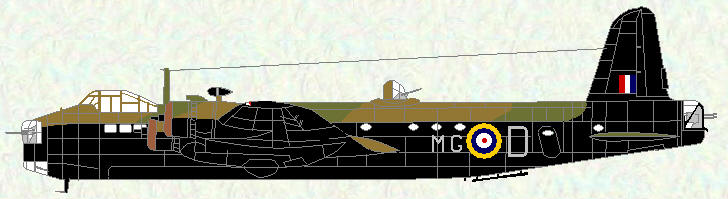 Stirling I of No 7 Squadron (revised grey codes)