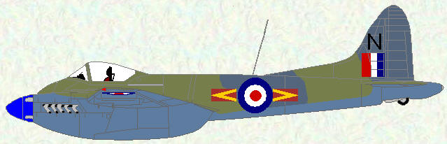 Hornet F Mk 3 of No 80 Squadron (camouflage scheme)