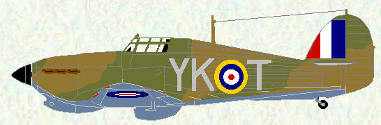 Hurricane I of No 274 Squadron (also used by No 80 Squadron - 1940)