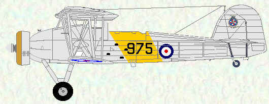 Swordfish I of No 825 Squadron (HMS Glorious 1938)