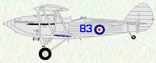 Hawker Hind of No 83 Squadron