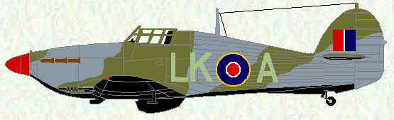 Hurricane IIC of No 87 Squadron (Night Intruder Scheme - 1942)