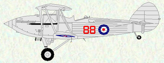 Hawker Hind of No 88 Squadron