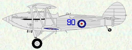 Hawker Hind of No 90 Squadron