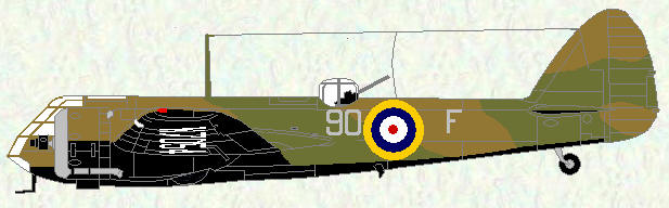 Bristiol Blnheim of No 90 Squadron (pre-war markings)