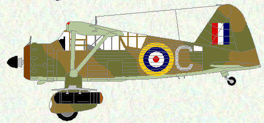 Lysander I of No 208 Squadron
