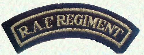 RAF Regiment shoulder flash, also worn by officers