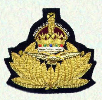 RNAS Officers cap badge