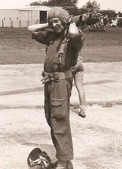 Crewman of No 66 Sqn preparing for a flight 1