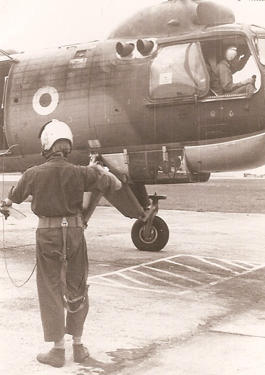 Crewman of No 66 Sqn preparing for a flight 3
