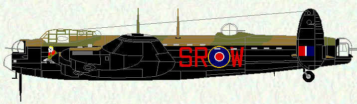 "Lancaster I of No 101 Squadron (equipped with ABC - ""Airborne Cigar"")"