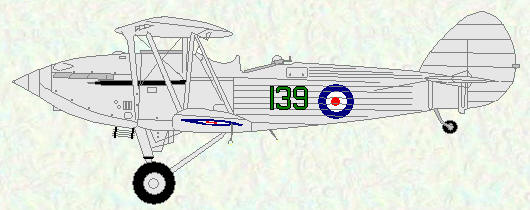 Hawker Hind of No 139 Squadron