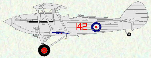 Hawker Hind of No 142 Squadron