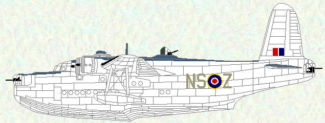 Sunderland V of No 201 Squadron (coded NS)