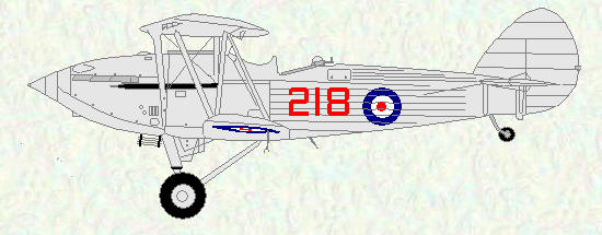 Hawker Hind of No 218 Squadron