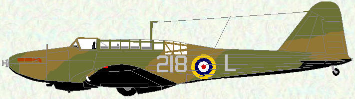 Battle I of No 218 Squadron (pre-Munich markings)