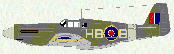 Mustang I of No 239 Squadron (US style colour scheme)