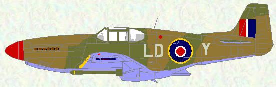 Mustang III of No 250 Squadron (dark earth/olive drab)