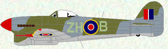 Typhoon IB of no 266 Squadron (August 1945)