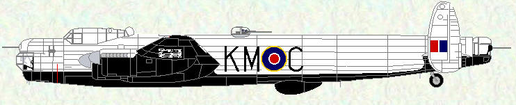 Lincoln B Mk 2 of No 44 Squadron (Tiger Force Colours)