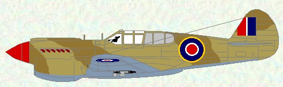 Kittyhawk I as used by No 250 Squadron